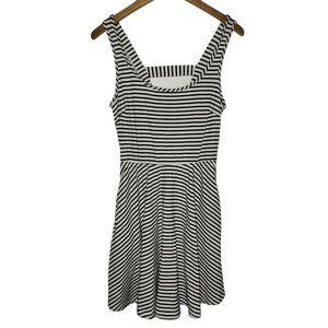 Flattering Striped Skater Dress